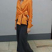 Одежда handmade. Livemaster - original item Blouse dressy , Orange mood ,,. Handmade.