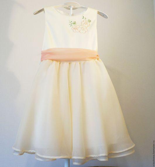 Одежда для девочек, ручной работы. Ярмарка Мастеров - ручная работа. Купить Детское платье цвета айвори. Handmade. Платье для девочки