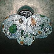 Для дома и интерьера ручной работы. Ярмарка Мастеров - ручная работа Абажур Синий шар или зелёный. Handmade.