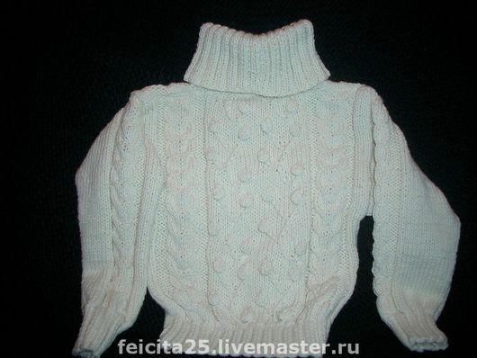 Одежда унисекс ручной работы. Ярмарка Мастеров - ручная работа. Купить детский свитер, шапочка и шарф. Handmade. Шерсть