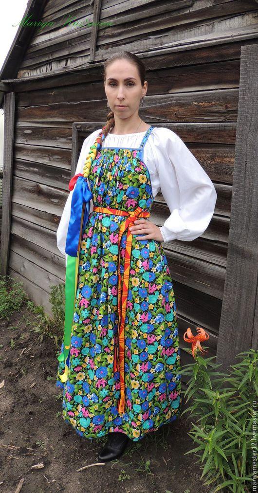 Одежда ручной работы. Ярмарка Мастеров - ручная работа. Купить Женский традиционный костюм. Handmade. Комбинированный, традиция
