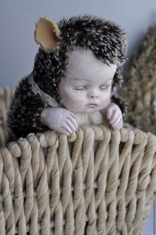 Авторские работы Марии Морозовой.Тедди-дети. Тедди-долл. Коллекционные игрушки. Ёжик.