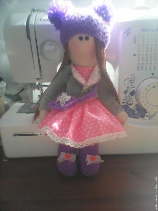 Куклы Тильды ручной работы. Ярмарка Мастеров - ручная работа. Купить интерьерная кукла. Handmade. Розовый, сиреневый, хлопок, плюш
