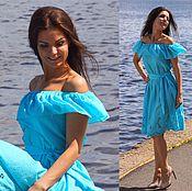 Одежда ручной работы. Ярмарка Мастеров - ручная работа Платье Софи - платье короткое / платье летнее. Handmade.