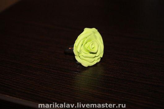 Кольца ручной работы. Ярмарка Мастеров - ручная работа. Купить Зеленая роза. Handmade. Роза, основа для кольца