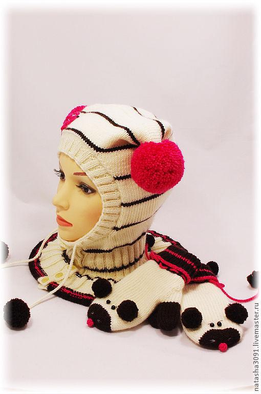 Шапки и шарфы ручной работы. Ярмарка Мастеров - ручная работа. Купить Шапка-шлем из журнала Дропс.. Handmade. Шапка, полушерсть