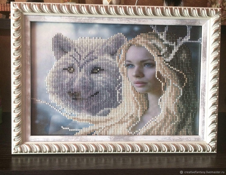 Девушка и волк, Картины, Саратов,  Фото №1