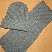 Одежда ручной работы. Ярмарка Мастеров - ручная работа Шапка и шарф для мужчин. Handmade.