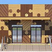 Дизайн и реклама ручной работы. Ярмарка Мастеров - ручная работа Здание для обслуживания населения. Handmade.