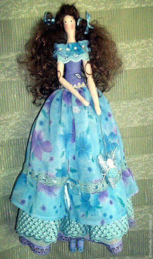 Куклы Тильды ручной работы. Ярмарка Мастеров - ручная работа. Купить Фея Аквамарина. Handmade. Синий, интерьерная кукла