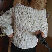 Одежда ручной работы. Ярмарка Мастеров - ручная работа Объемный вязаный свитер в стиле Ruban.. Handmade.