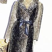 Одежда ручной работы. Ярмарка Мастеров - ручная работа Короткое пальто футляр, нерпа золотистая, размер уни. Handmade.