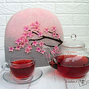 Посуда handmade. Livemaster - original item Sakura - warmer for teapot kitchen decor and cozy tea party. Handmade.