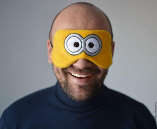 """Белье ручной работы. Ярмарка Мастеров - ручная работа. Купить Маска для сна """"Миньон"""". Handmade. Желтый, маска для сна, мультяшка"""