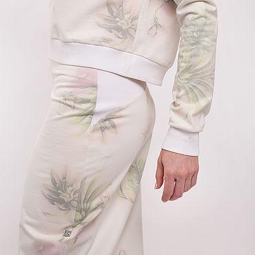 Одежда ручной работы. Ярмарка Мастеров - ручная работа Юбка Белый папоротник. Handmade.
