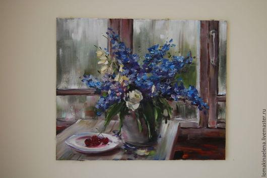 Картины цветов ручной работы. Ярмарка Мастеров - ручная работа. Купить Картина Натюрморт с цветами. Handmade. Разноцветный, натюрморт с цветами