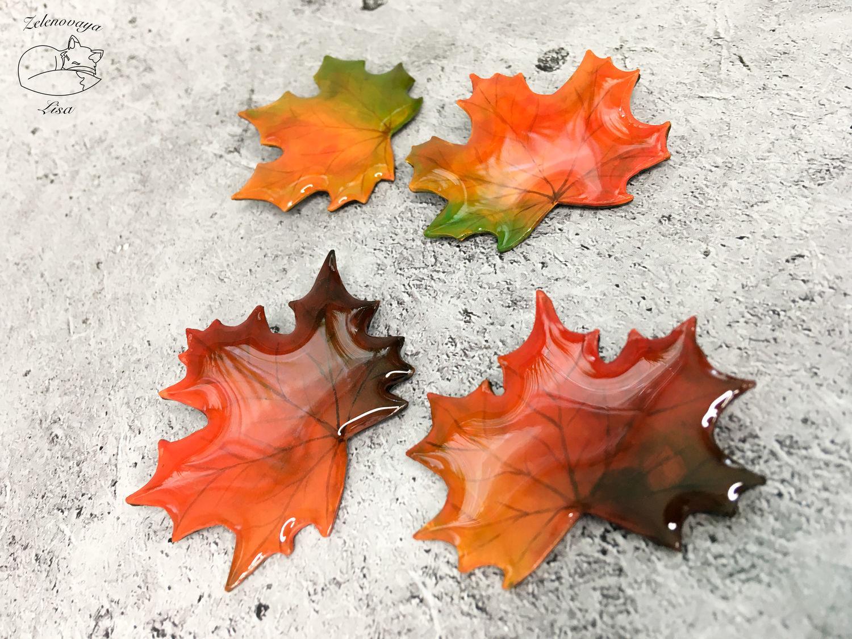 """Броши """"Яркие осенние листья осень лист осенний оранжевый"""", Брошь-булавка, Брюховецкая,  Фото №1"""