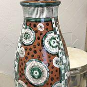 Для дома и интерьера ручной работы. Ярмарка Мастеров - ручная работа Ваза майоликовая. Handmade.