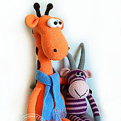 Куклы и игрушки handmade. Livemaster - original item Lanky giraffe Rafael. Knitted toy. Handmade.