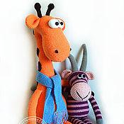 Куклы и игрушки ручной работы. Ярмарка Мастеров - ручная работа Долговязый жираф Рафаэль. Вязаная игрушка. Handmade.