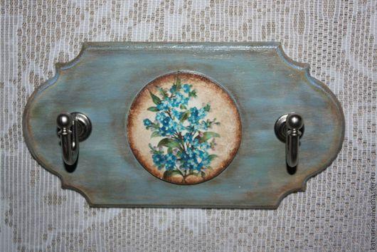 """Кухня ручной работы. Ярмарка Мастеров - ручная работа. Купить Вешалка для полотенец """"Незабудковый цвет"""". Handmade. Голубой, подарок на новоселье"""
