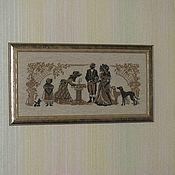 """Картины и панно ручной работы. Ярмарка Мастеров - ручная работа картина """"Дамы у фонтана"""". Дизайн фирмы Риолис.. Handmade."""