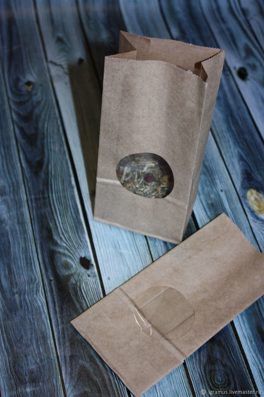 Packaging bag with window Kraft, Packages, Moscow,  Фото №1
