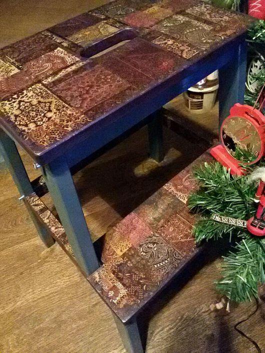 """Мебель ручной работы. Ярмарка Мастеров - ручная работа. Купить Табурет стремянка-ступенька подарок """"Кантри печворк"""". Handmade."""