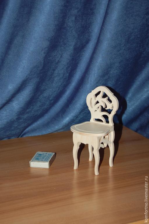 Кукольный стульчик.Заготовка для декупажа и росписи.206