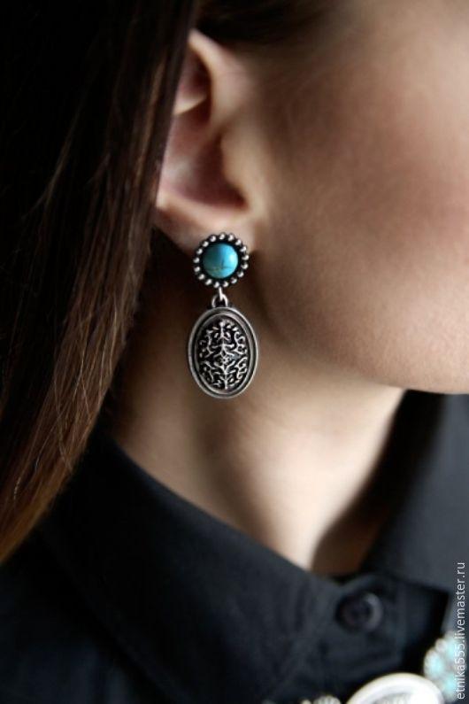 Earrings-ear-stud gate, Stud earrings, Belaya Cerkov,  Фото №1