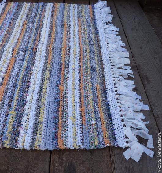 Текстиль, ковры ручной работы. Ярмарка Мастеров - ручная работа. Купить Коврик с кисточками. Handmade. Разноцветный, коврик, уютный подарок