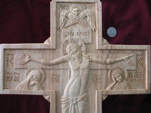 Подарки на Пасху ручной работы. Ярмарка Мастеров - ручная работа. Купить Крест аналойный. Handmade. Православный крест, праздничный крест