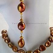 Украшения handmade. Livemaster - original item Set Terracotta Baroque pearl, gold plated. Handmade.