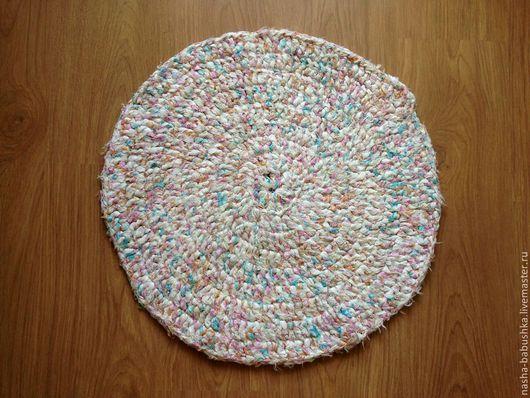 Текстиль, ковры ручной работы. Ярмарка Мастеров - ручная работа. Купить Ковер одноцветный из 100 х/б. Handmade. Белый, ковер
