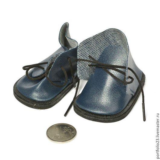 Ботиночки для куклы 7 см синие