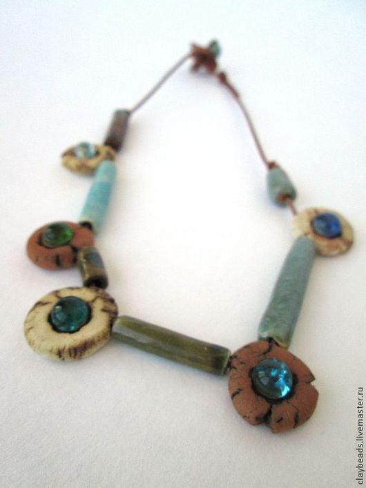 """Колье, бусы ручной работы. Ярмарка Мастеров - ручная работа. Купить """"Min"""". Керамическое ожерелье. Handmade. Керамические украшения, терракота"""