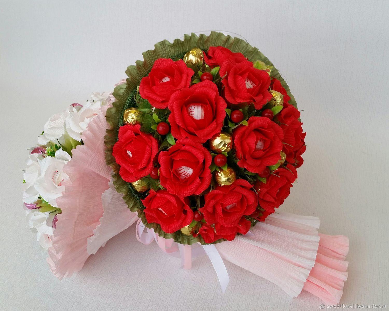 Конфетные букеты на заказ астана, цветов