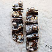 Украшения ручной работы. Ярмарка Мастеров - ручная работа серебряные серьги с жемчугом. Handmade.