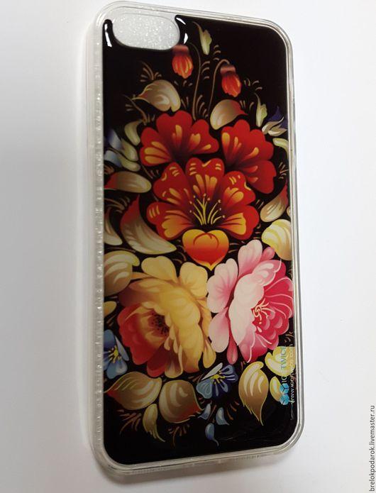 Силиконовый чехол для iPhone 5/5s с узором цветы