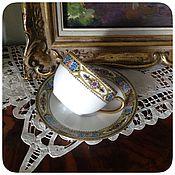 Винтаж ручной работы. Ярмарка Мастеров - ручная работа Старинная чайная пара Limoges Франция. Handmade.