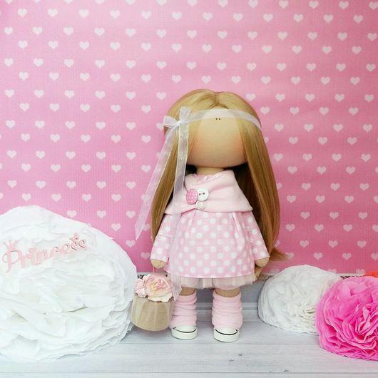 Коллекционные куклы ручной работы. Ярмарка Мастеров - ручная работа. Купить Текстильная куколка. Handmade. Текстильная кукла, хендмейд, хлопок