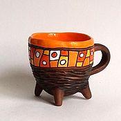 """Посуда ручной работы. Ярмарка Мастеров - ручная работа Чашка на ножках """"Манго"""". Handmade."""
