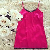 Одежда ручной работы. Ярмарка Мастеров - ручная работа Комплект ярко-розового цвета с французским кружевом. Handmade.