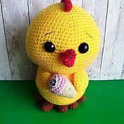 Кукольная еда ручной работы. Ярмарка Мастеров - ручная работа Цыпленок с мороженым. Handmade.
