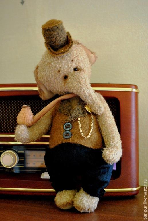 Мишки Тедди ручной работы. Ярмарка Мастеров - ручная работа. Купить Mr.Tatoom (Мистер Татум). Handmade. Желтый, слоны