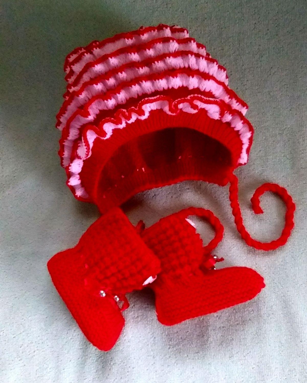 Комплект для новорождённого шапка + пинетки , Комплект из шарфа и шапки, Советск,  Фото №1