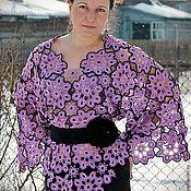 Одежда handmade. Livemaster - original item Lilac flowers.Pullover floral motifs.. Handmade.