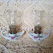 Винтаж ручной работы. Ярмарка Мастеров - ручная работа Фарфоровые керосиновые лампы. Handmade.