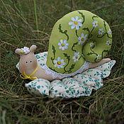 Куклы и игрушки ручной работы. Ярмарка Мастеров - ручная работа улитка Ромашка. Handmade.