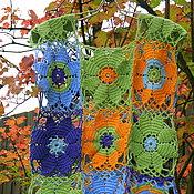 """Одежда ручной работы. Ярмарка Мастеров - ручная работа Вязаный жилет """"Цветы осени"""". Handmade."""